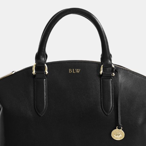 Gold Foil Embossed Large Duxbury Satchel