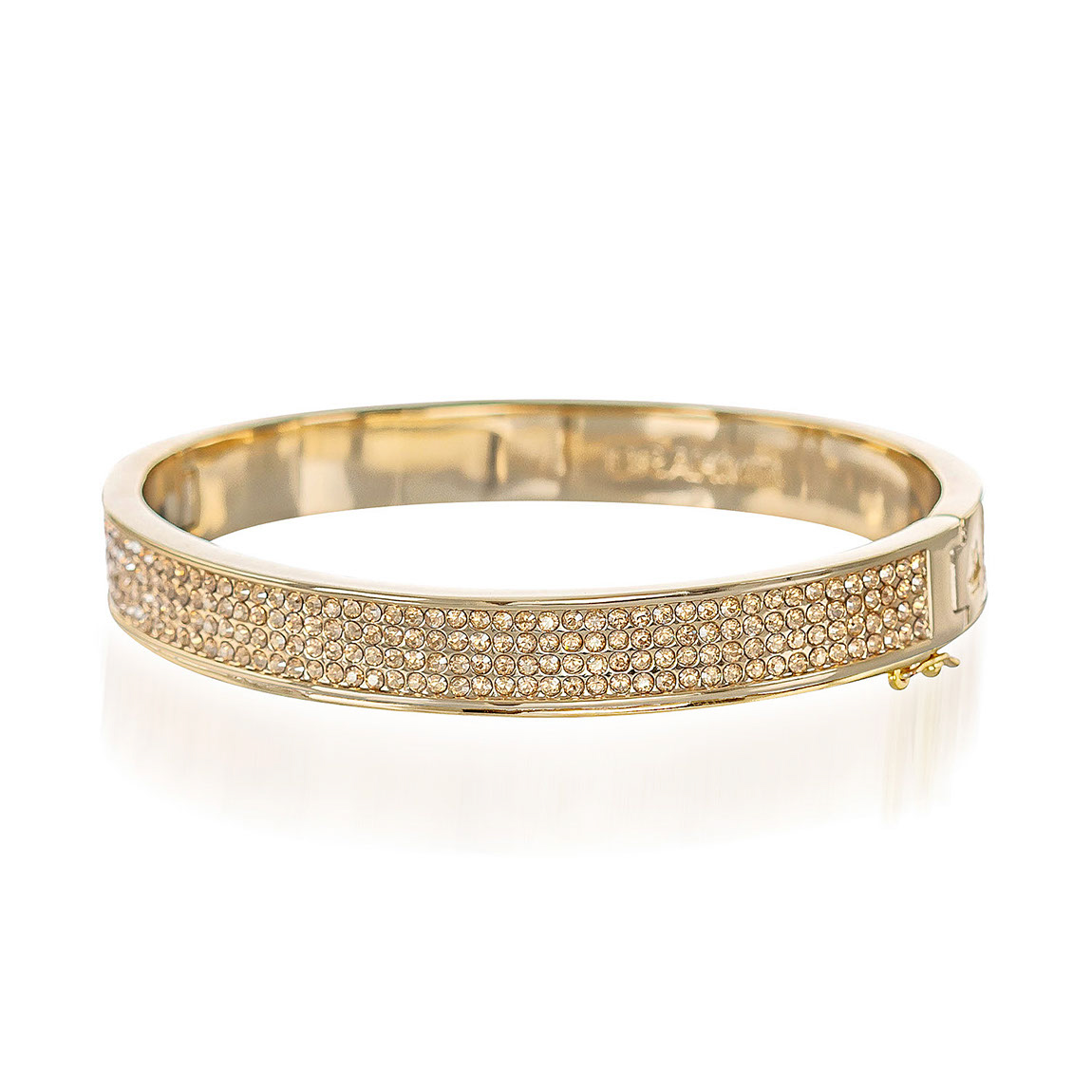 Split Crystal Bangle Gold Fairhaven
