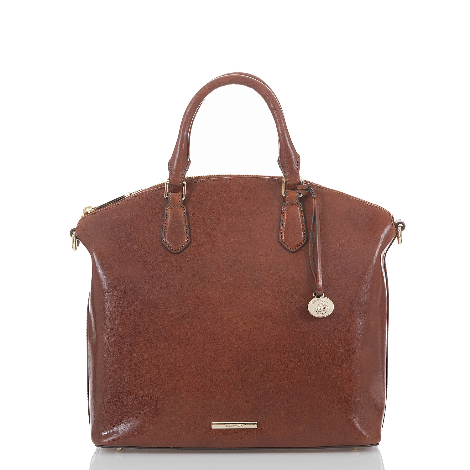 Large Duxbury Satchel Cognac Topsail Video Thumbnail