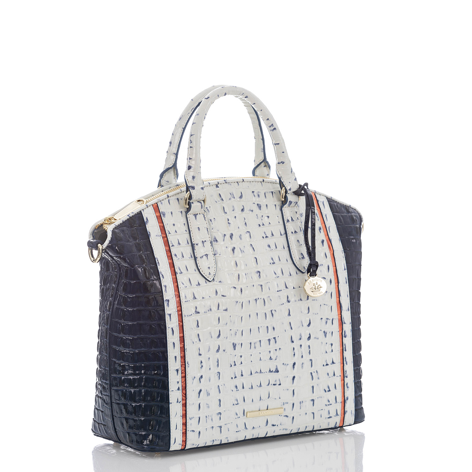 Large Duxbury Satchel Marina Simone Side Thumbnail