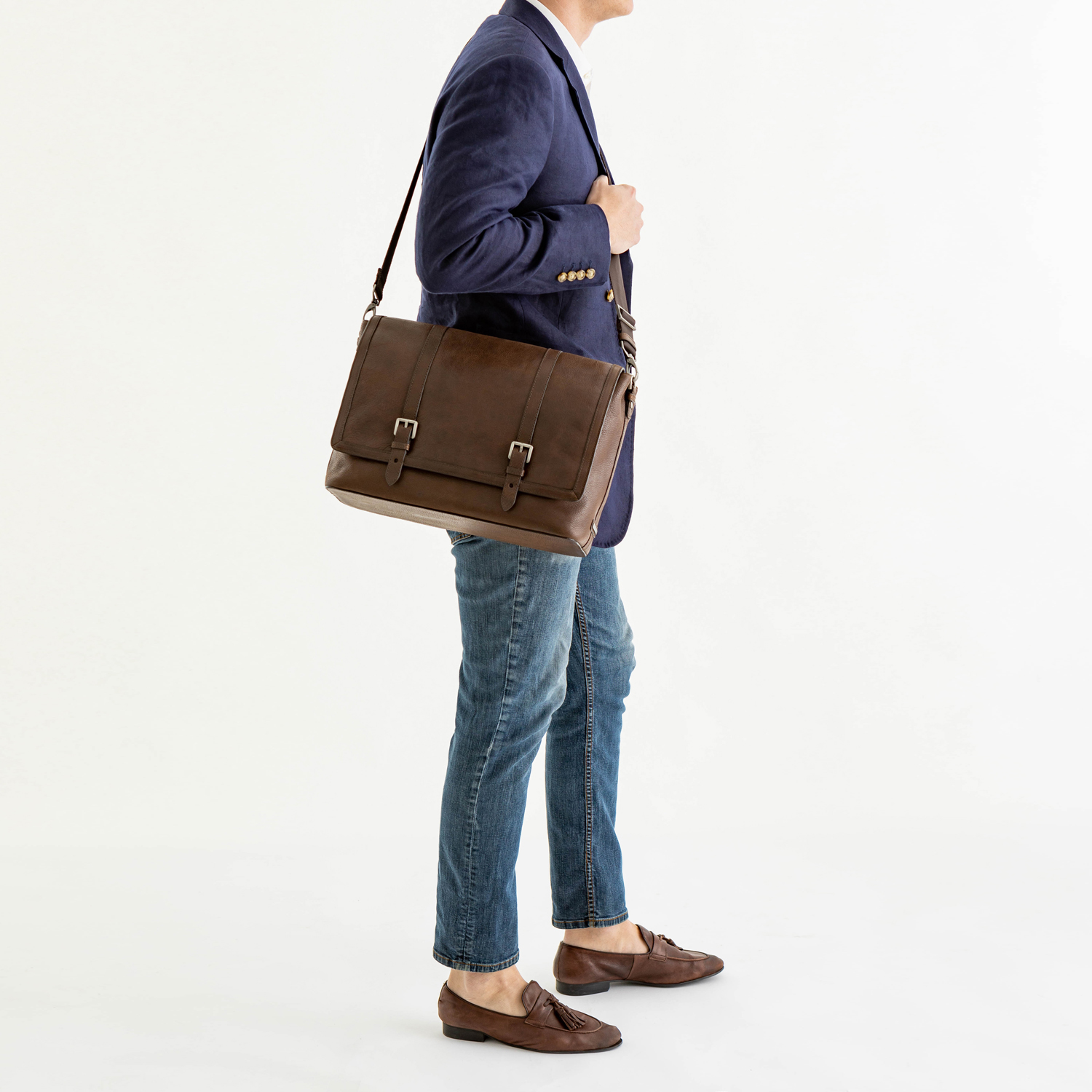Mason Messenger Cocoa Brown Manchester