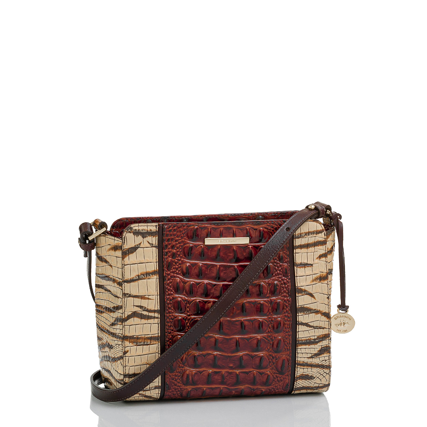 Carrie Crossbody Feline Rizzo Front Brahmin Exclusive