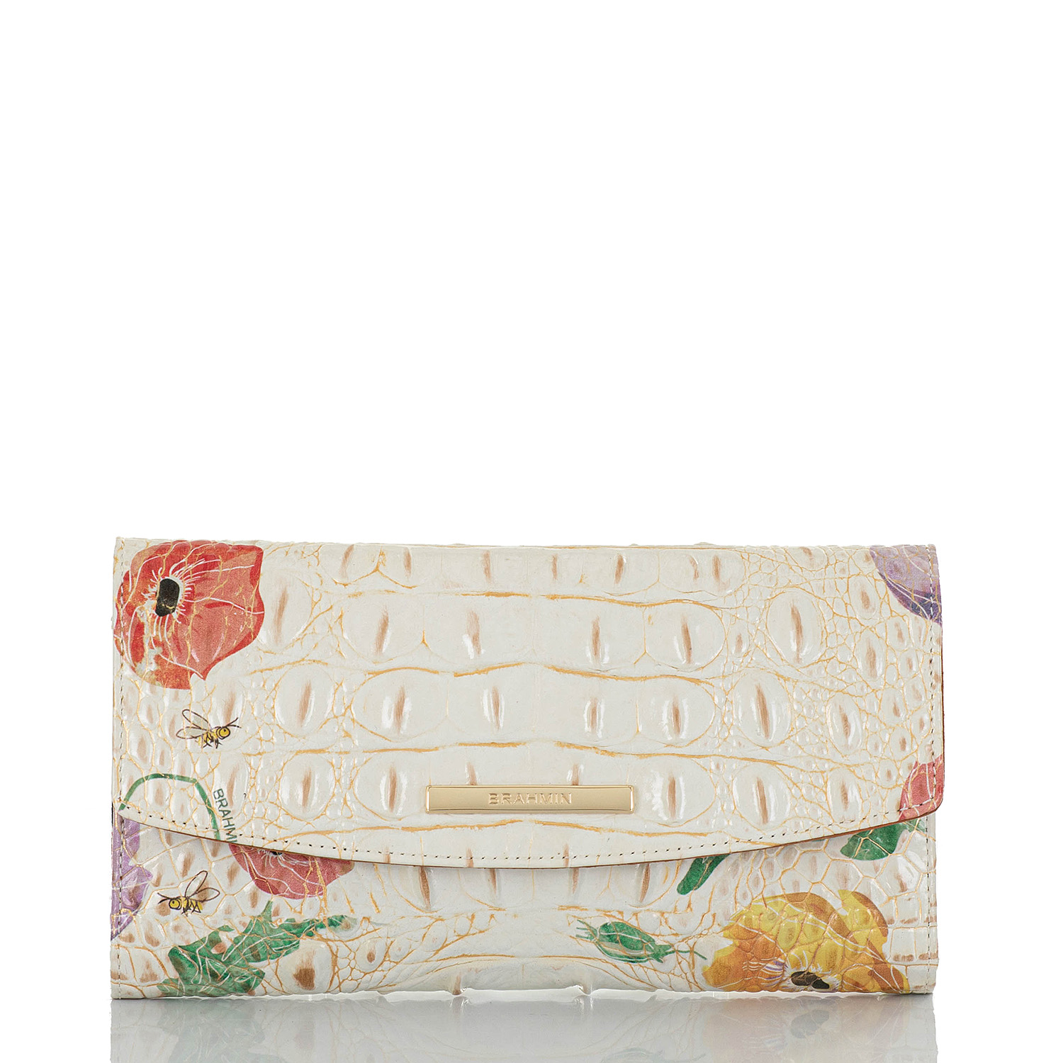 Modern Checkbook Wallet Multi Papaver