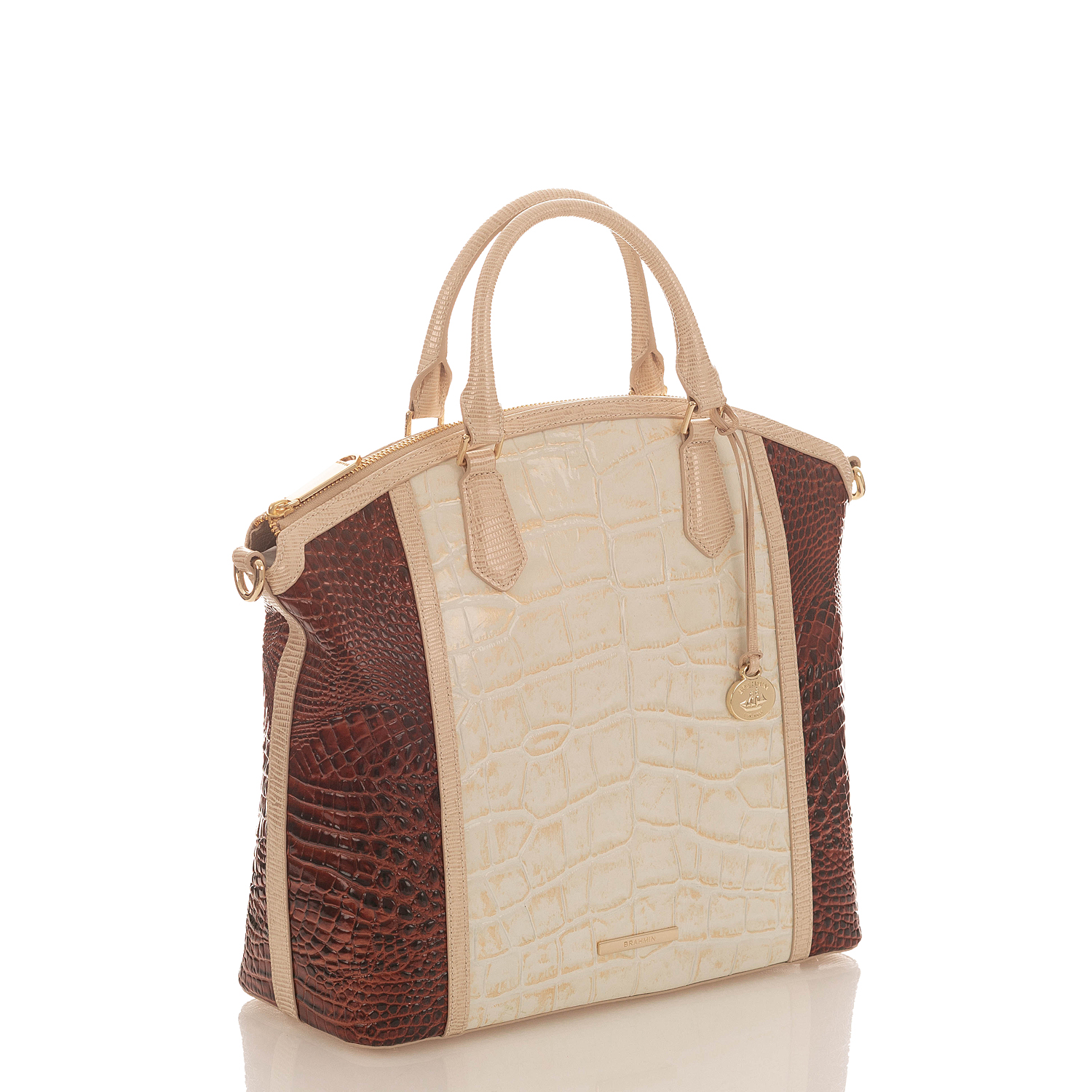 Large Duxbury Satchel Light Gold Brinkley