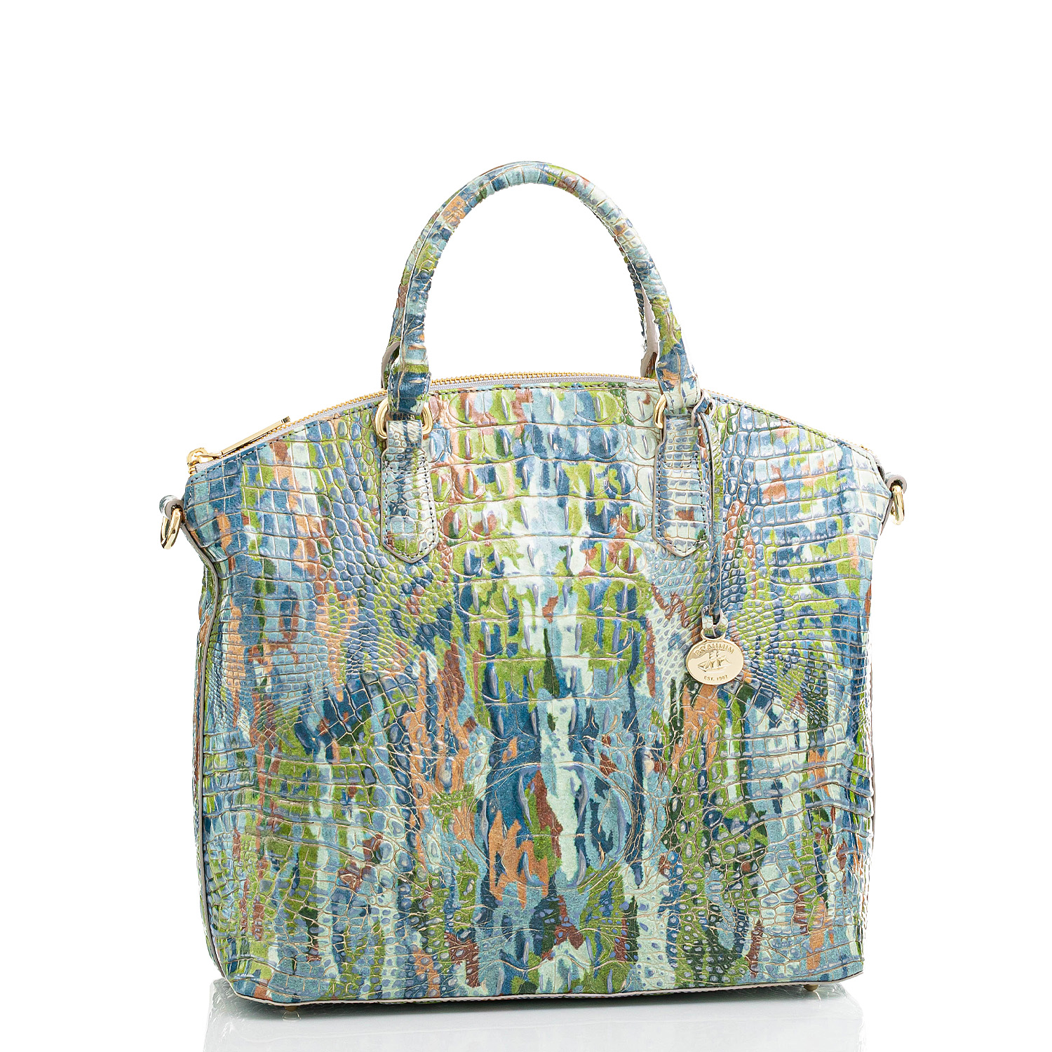 Large Duxbury Satchel Water Lily Melbourne Front