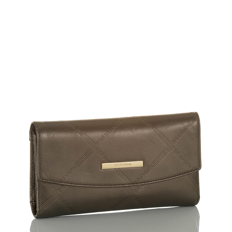 Modern Checkbook Wallet Bronze Vetiver