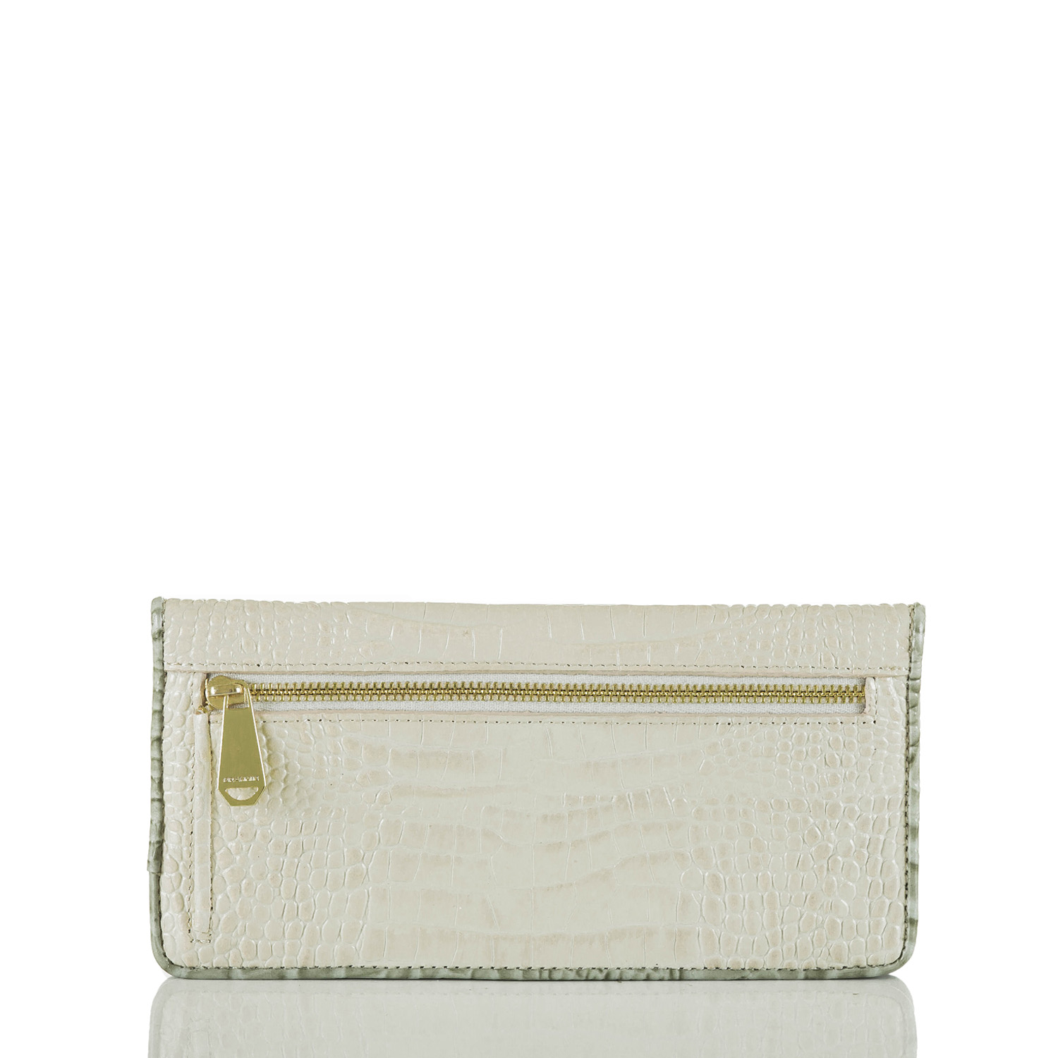 Ady Wallet Ivory Tri-Texture Front