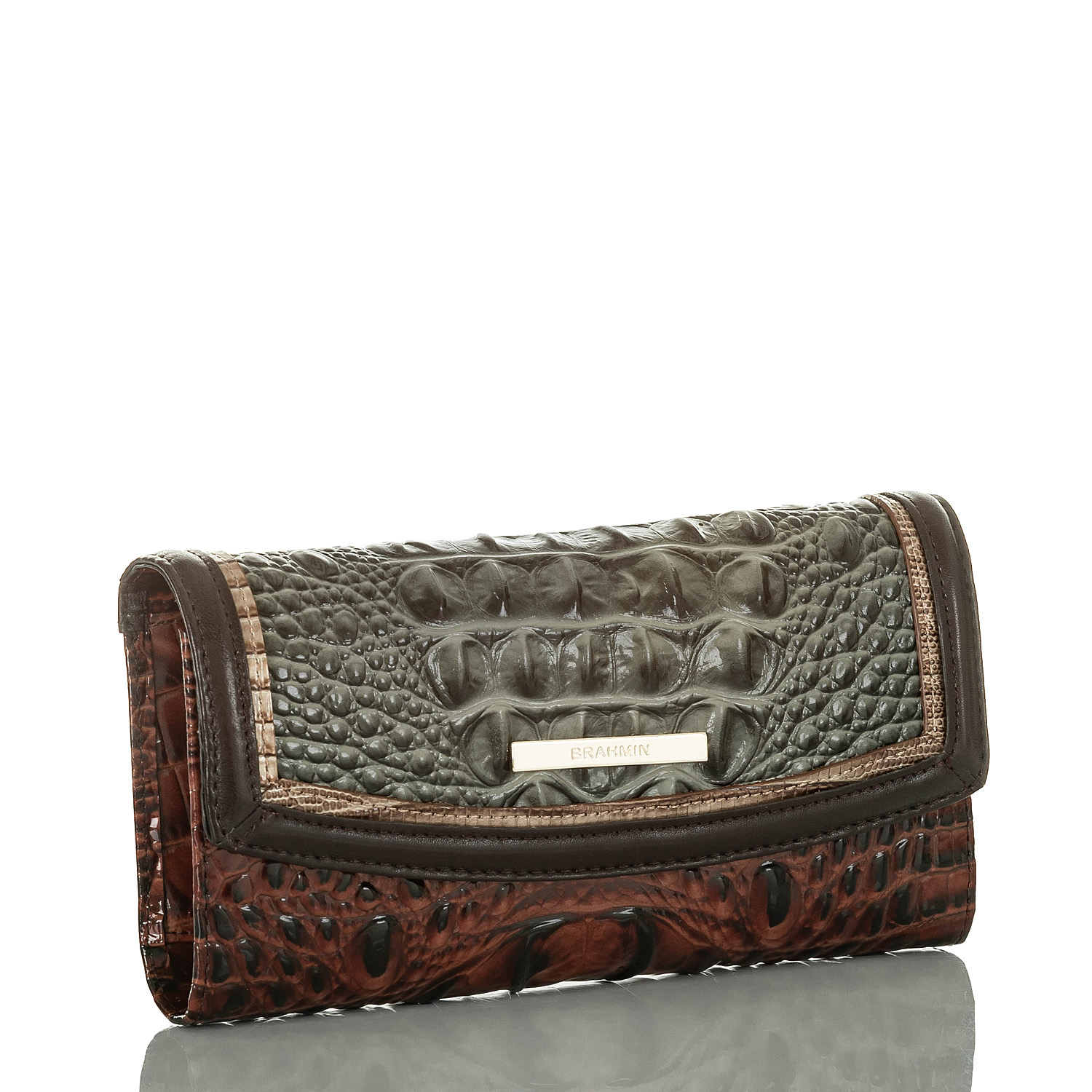 Modern Checkbook Wallet Serpentine Heartwood