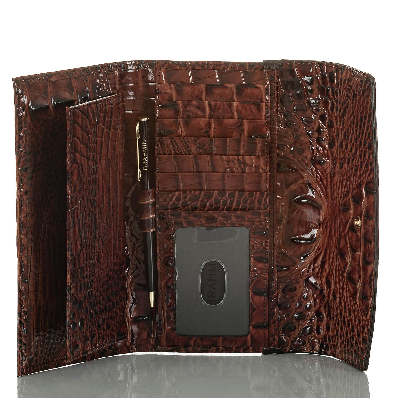 Modern Checkbook Wallet Serpentine Heartwood