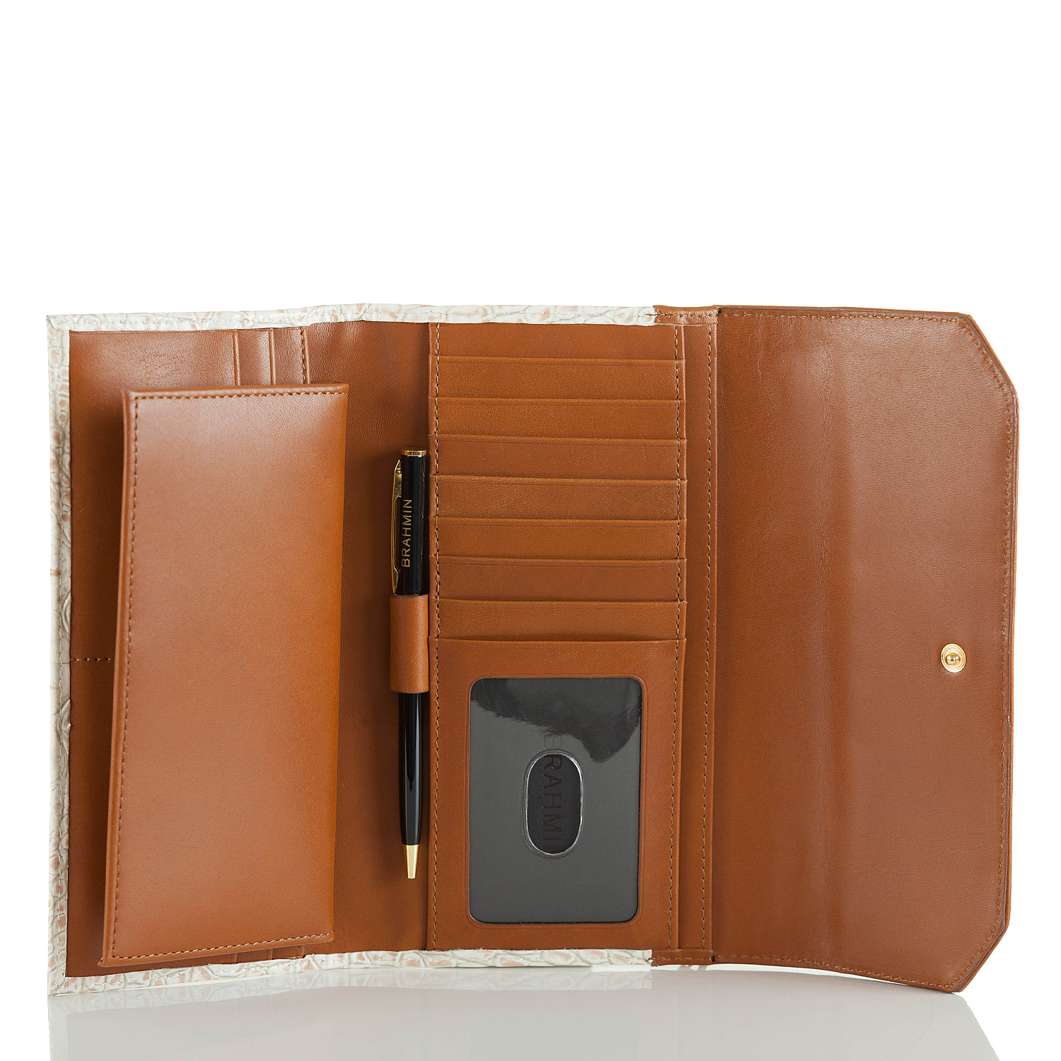 Soft Checkbook Wallet Lagoon Eckford Front