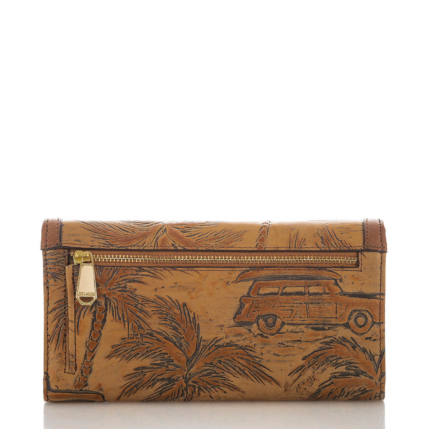Soft Checkbook Wallet Tan Copa Cabana