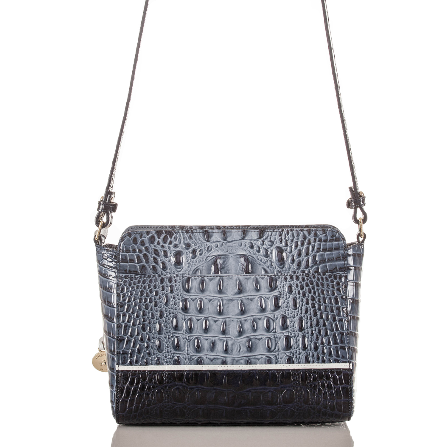 Carrie Crossbody Denim Tri-Texture Front