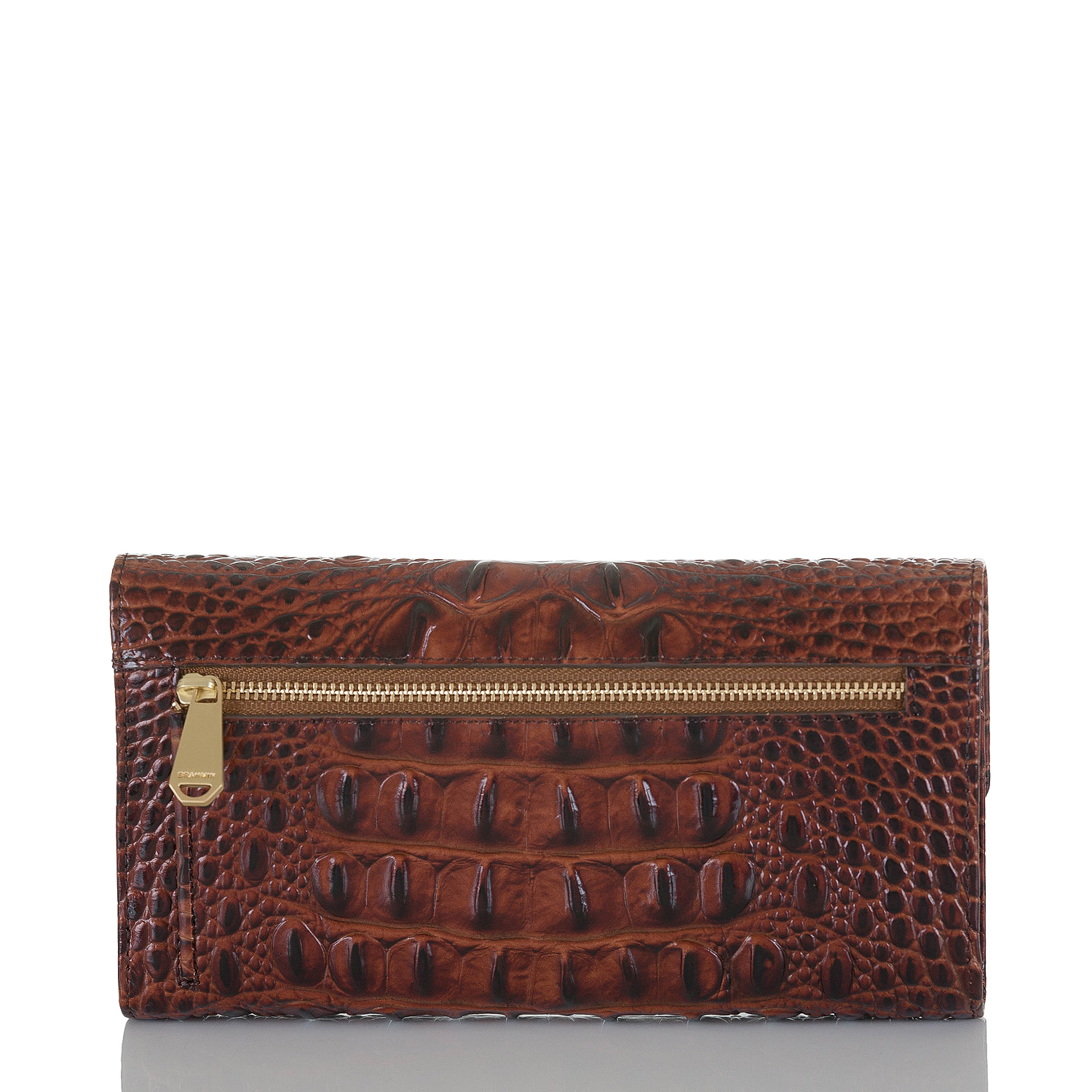 Soft Checkbook Wallet Pecan Melbourne