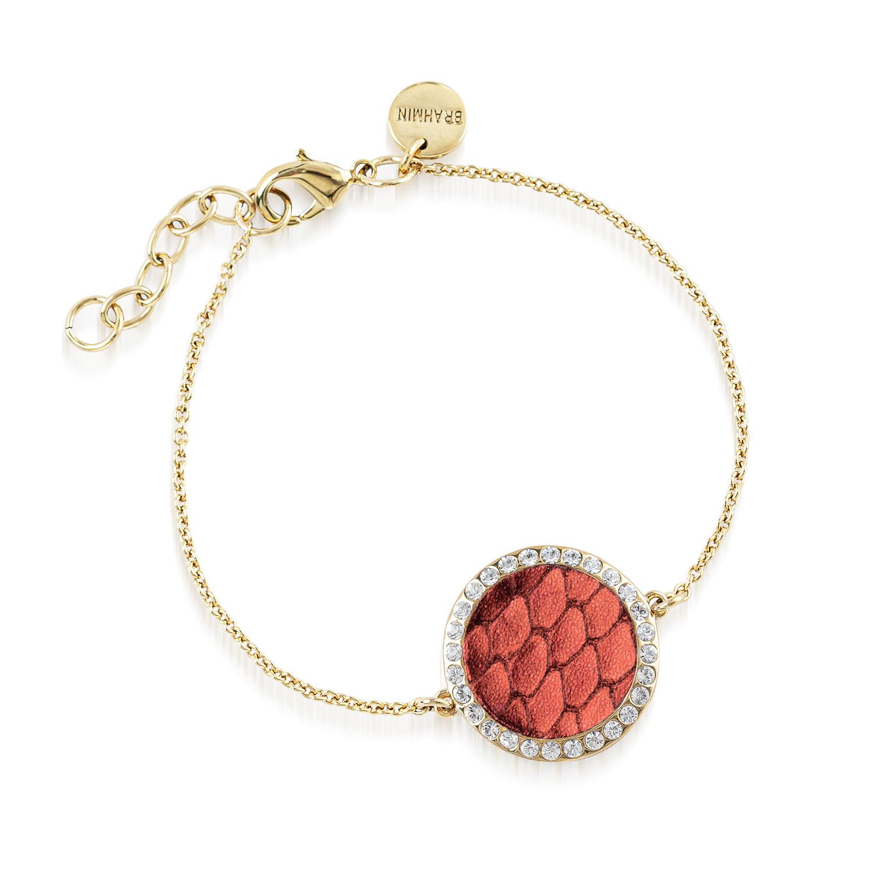 Circle Crystal Link Bracelet Garnet Fairhaven