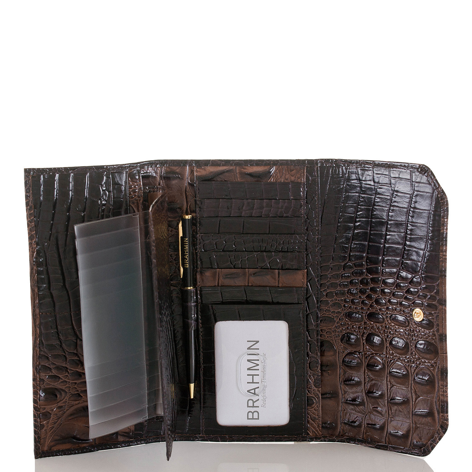 Soft Checkbook Wallet Cocoa Melbourne