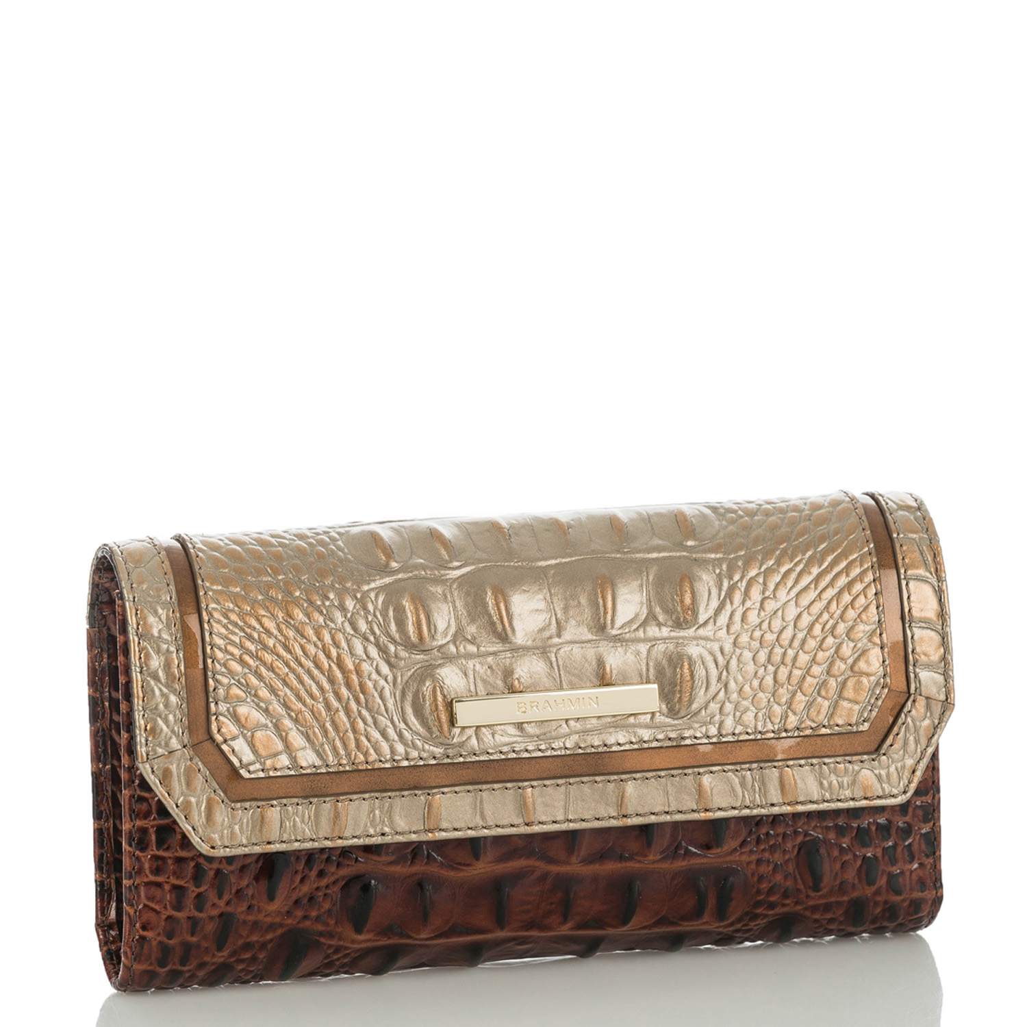 Soft Checkbook Wallet Rose Gold Provence
