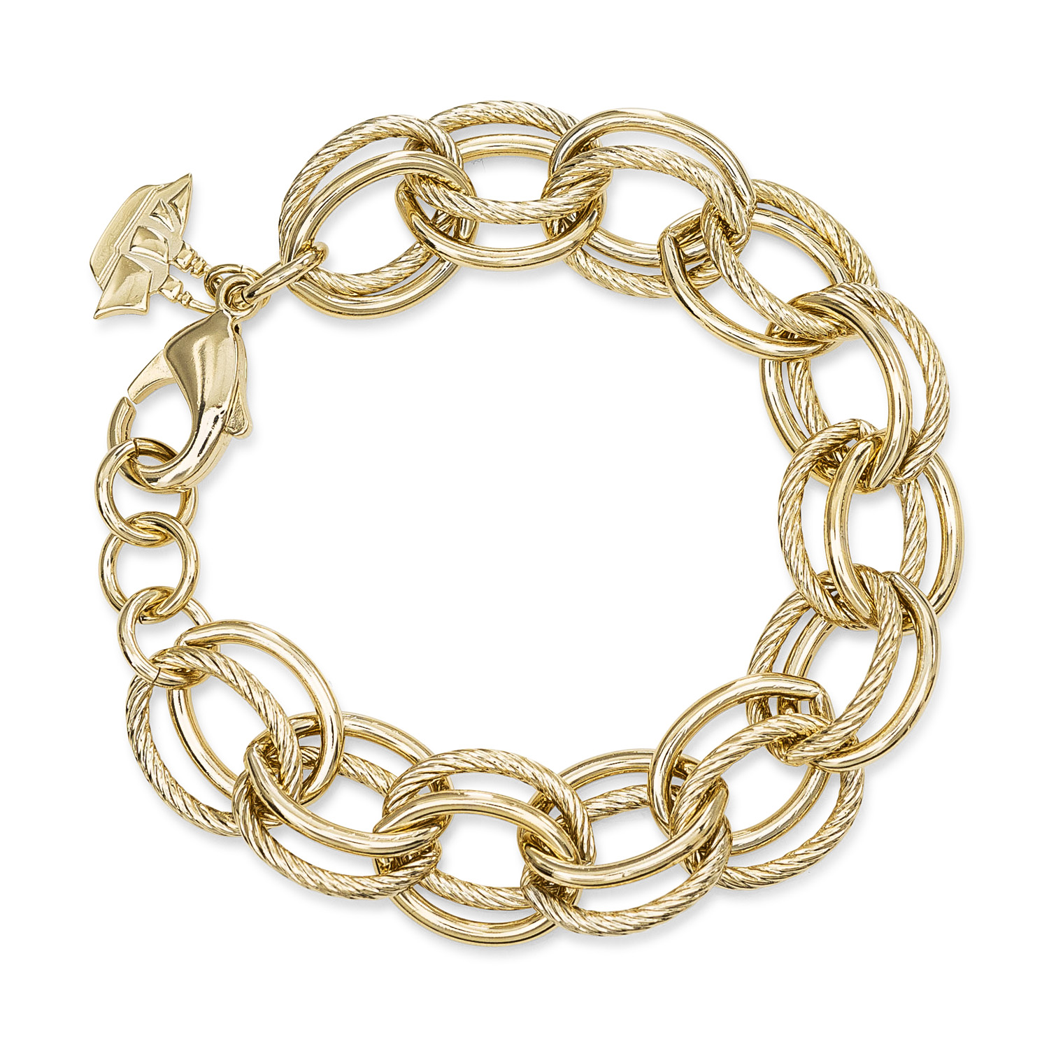 Double Cable Link Bracelet 18K Gold Plated Providence