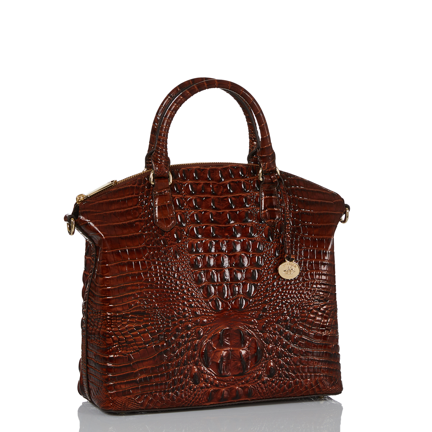 Large Duxbury Satchel Pecan Melbourne Side Thumbnail