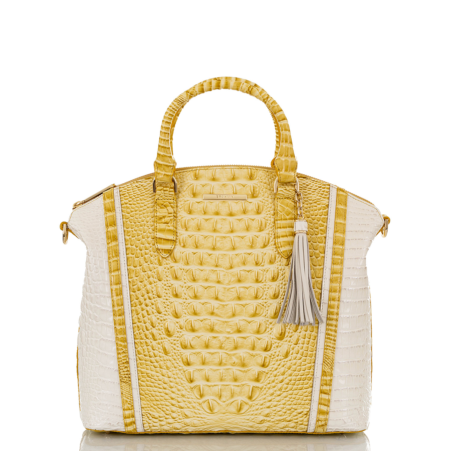 Large Duxbury Satchel Lemonade Honeybee