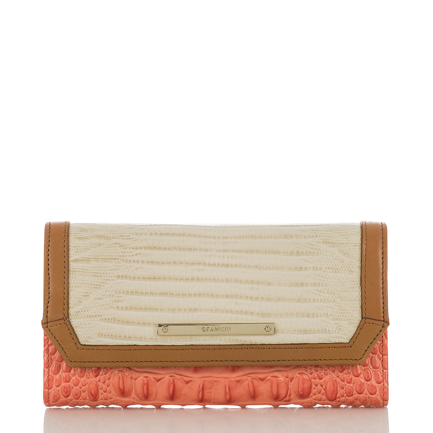 Soft Checkbook Wallet Creamsicle Andes Front