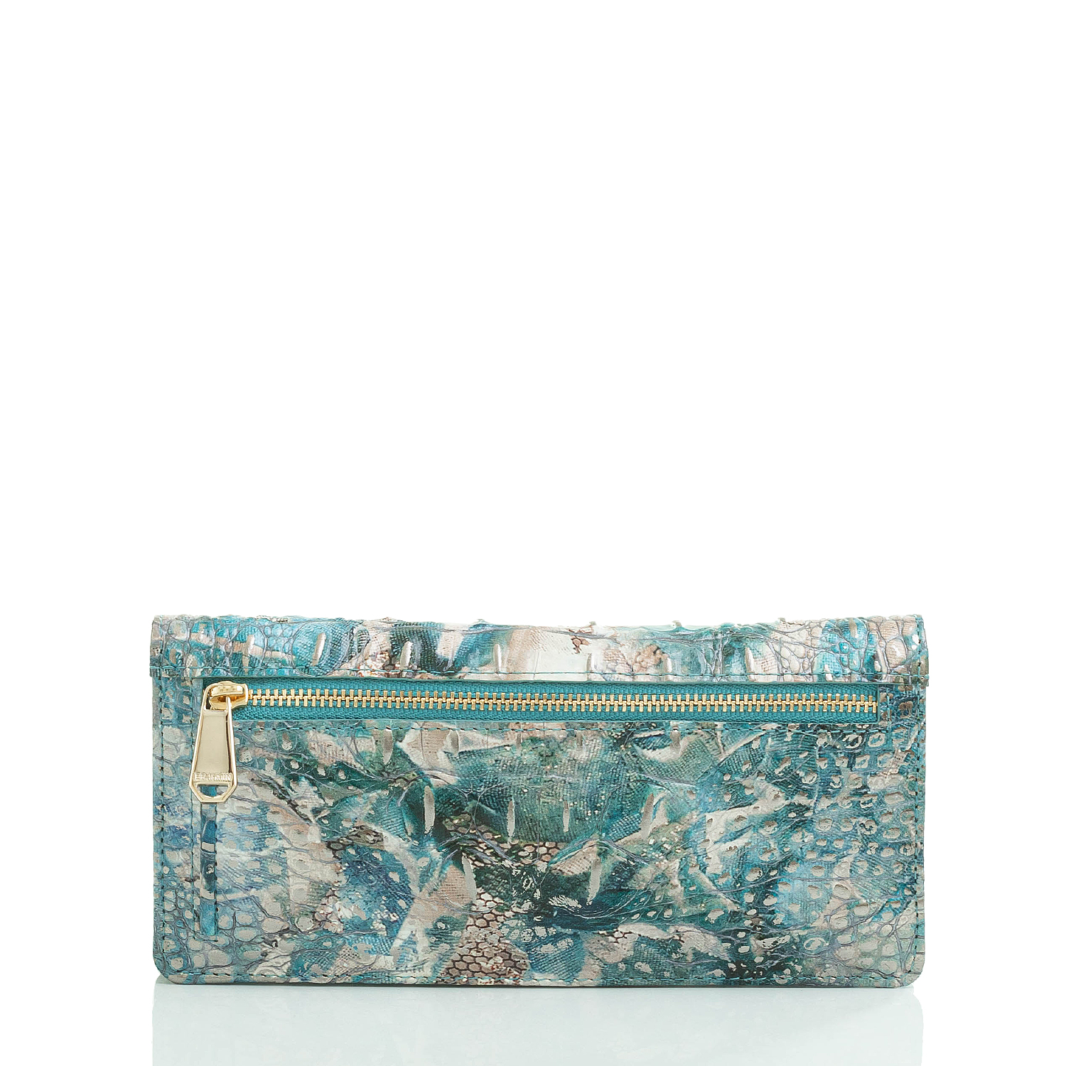 Ady Wallet Blue Lace Melbourne Front Brahmin Exclusive