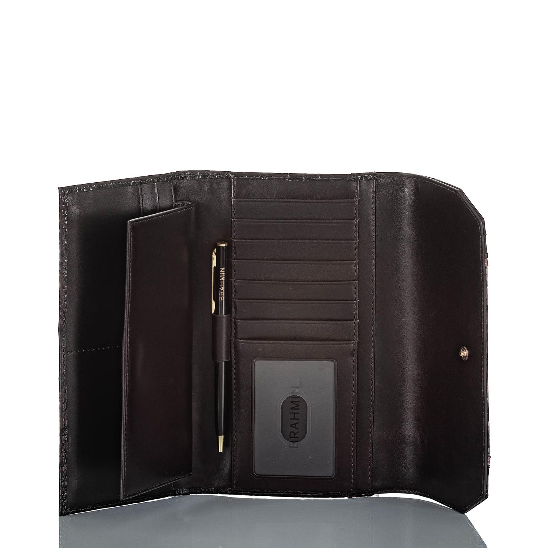 Soft Checkbook Wallet Plum Sangrita