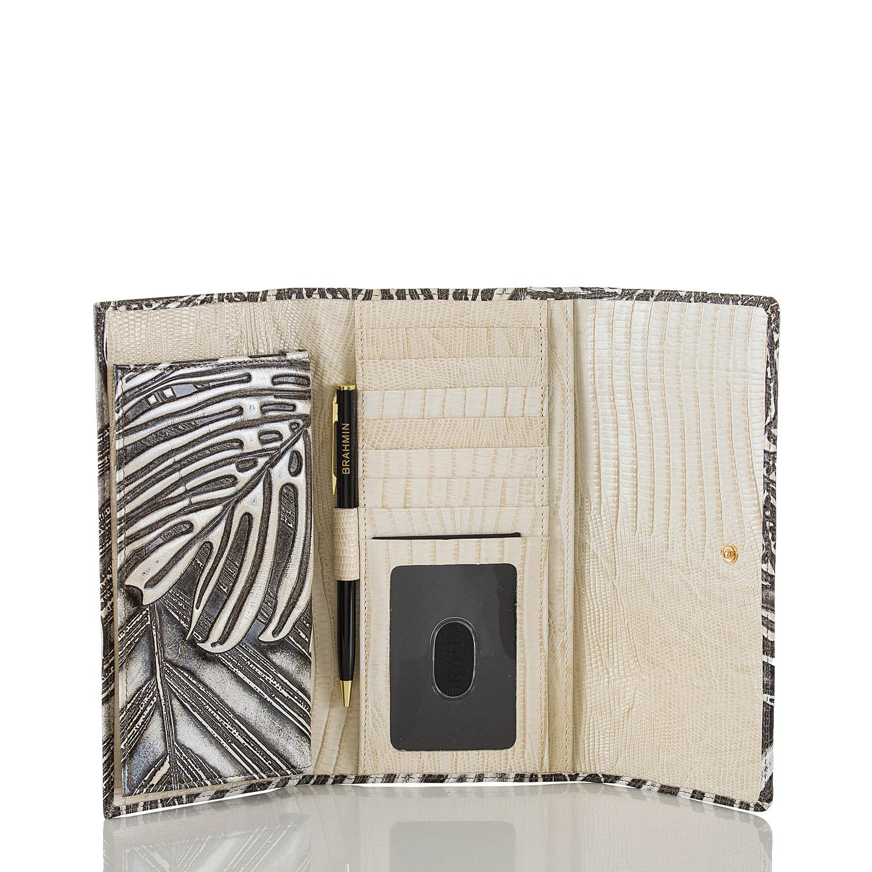 Soft Checkbook Wallet Silver Loreto