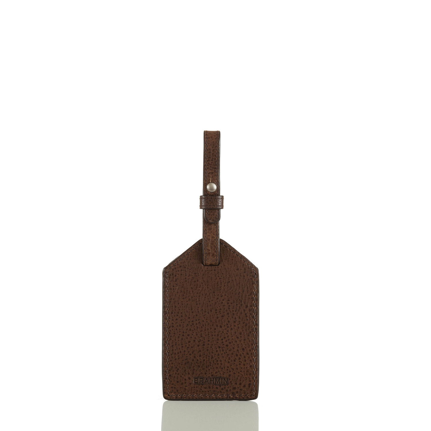 Mens Luggage Tag Cocoa Brown Manchester