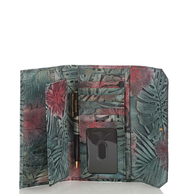 Soft Checkbook Wallet Green Solandra