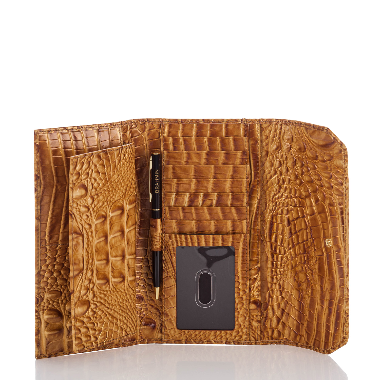 Soft Checkbook Wallet Amber Melbourne