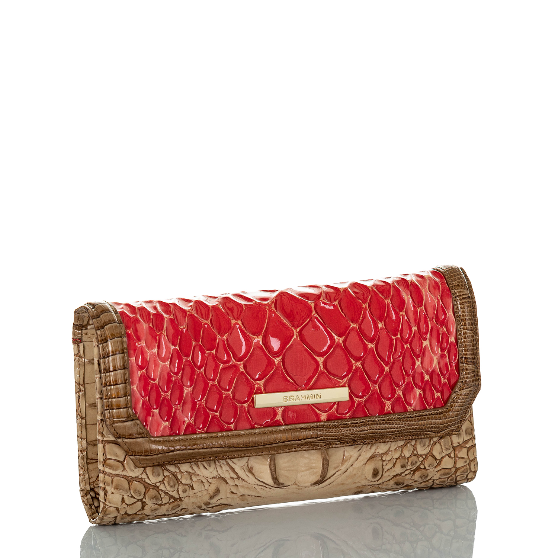 Soft Checkbook Wallet Candy Apple Carlisle