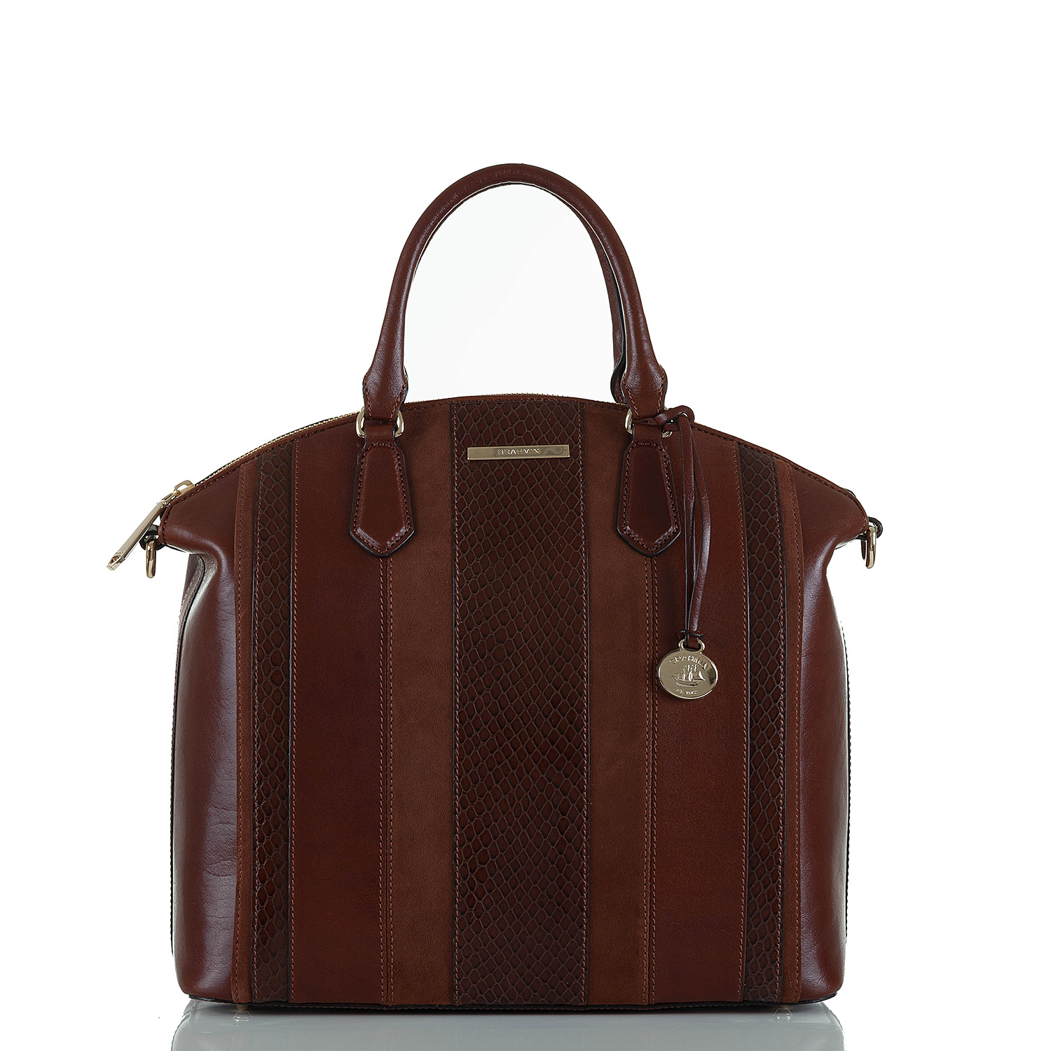 Large Duxbury Satchel Pecan Windsor