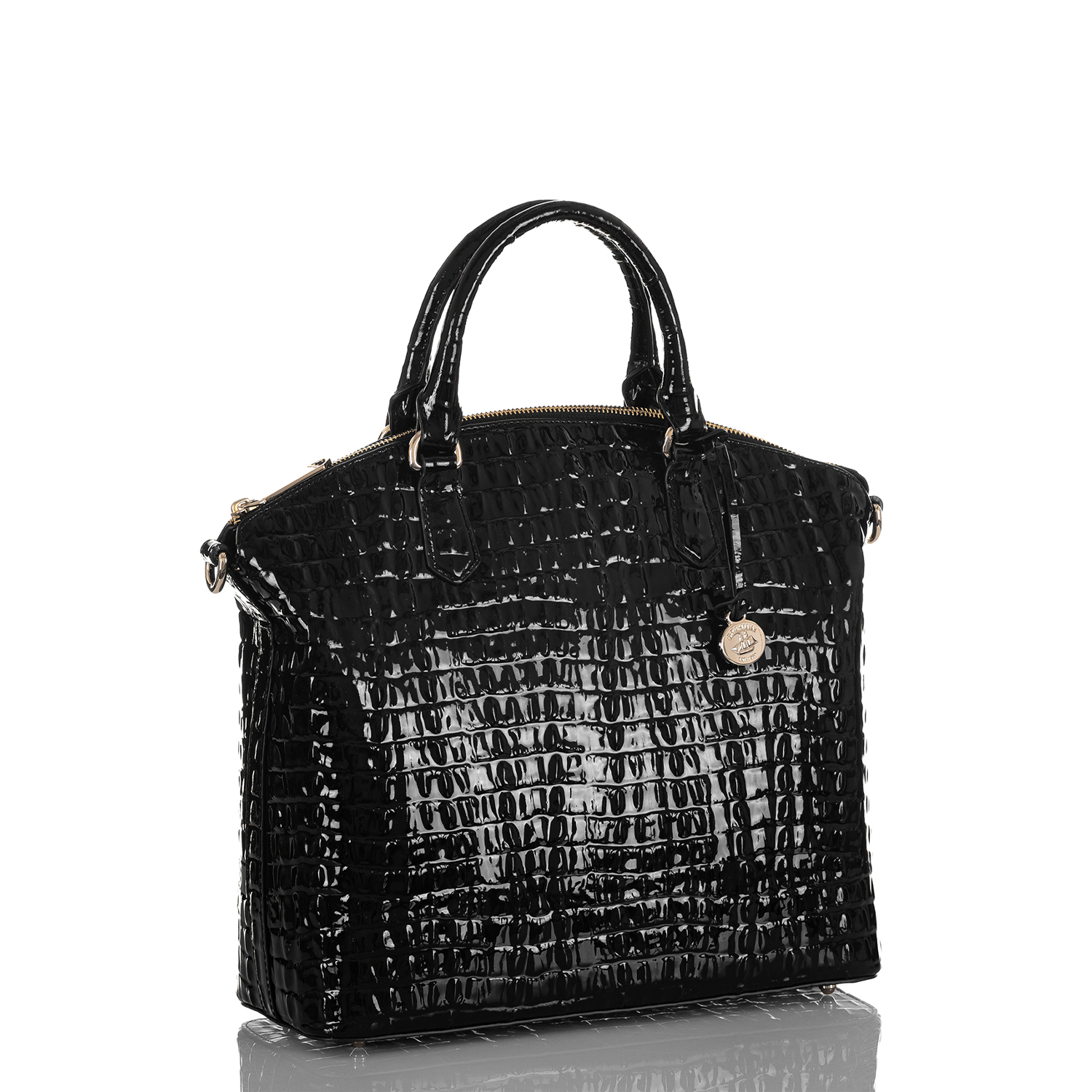 Large Duxbury Satchel Black La Scala