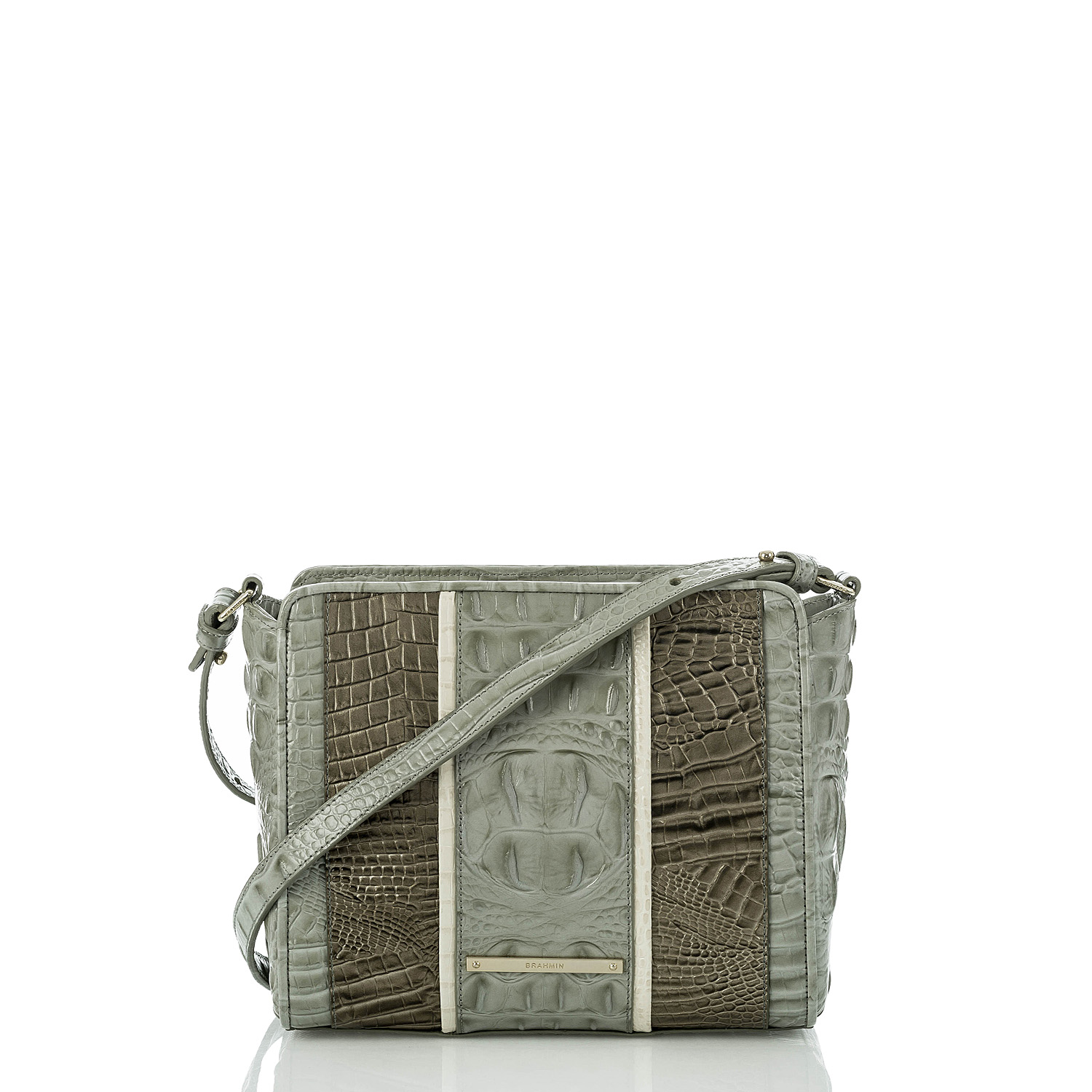 Carrie Crossbody Silver Sage Tarama Front