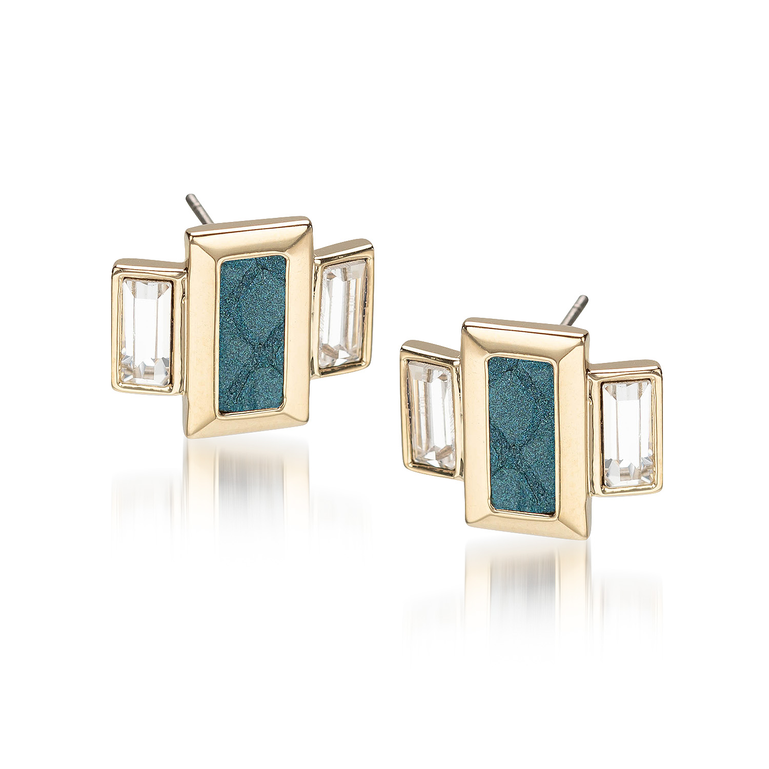 Emerald Cut Crystal Earrings Agate Fairhaven
