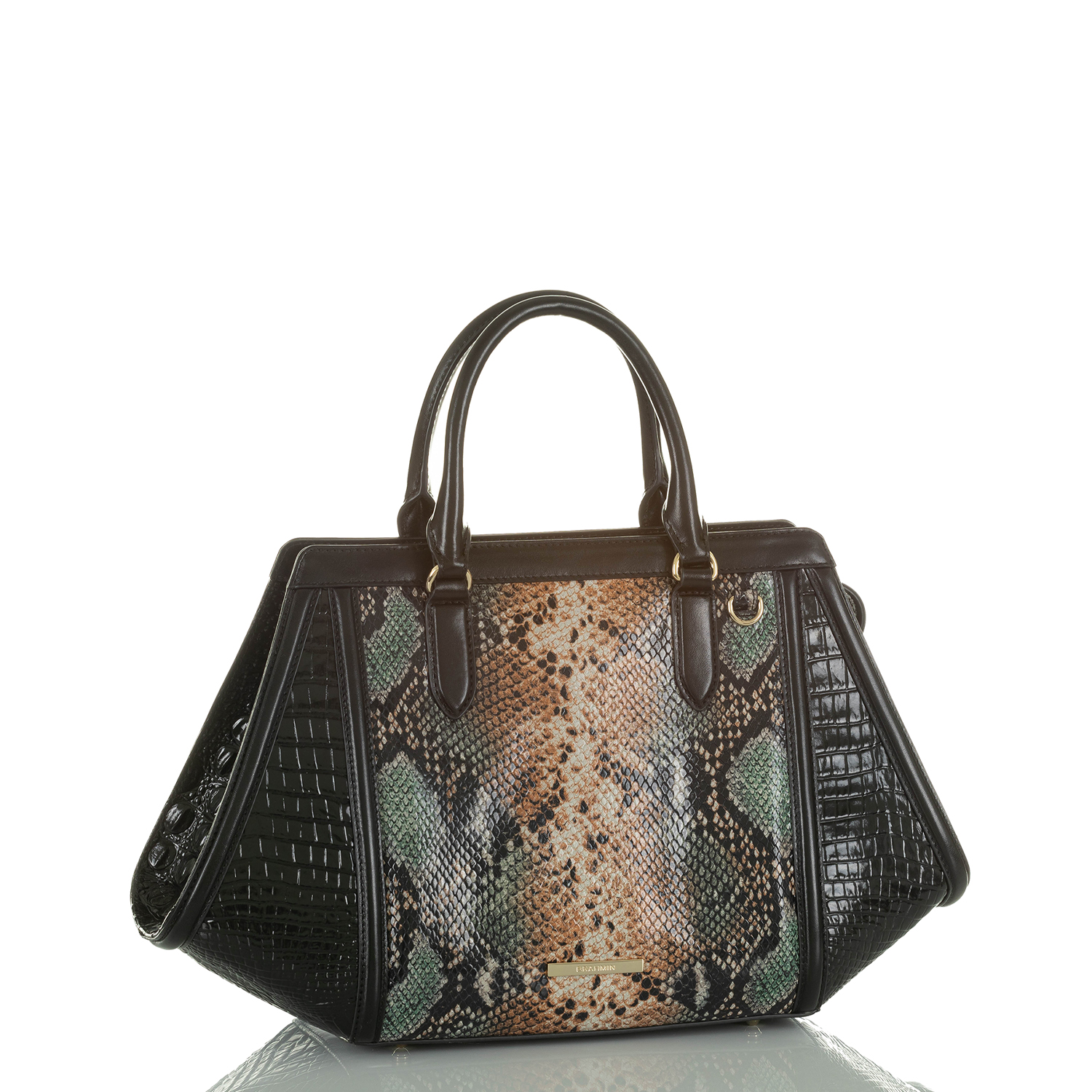 Arden Satchel Serpentine Patchouli