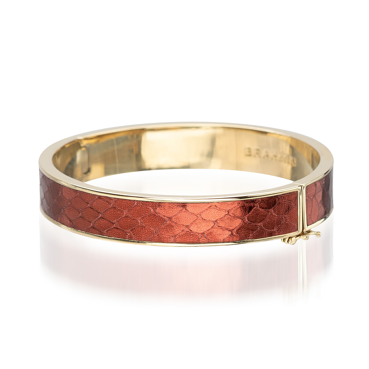 Heritage Leather Bangle Garnet Fairhaven
