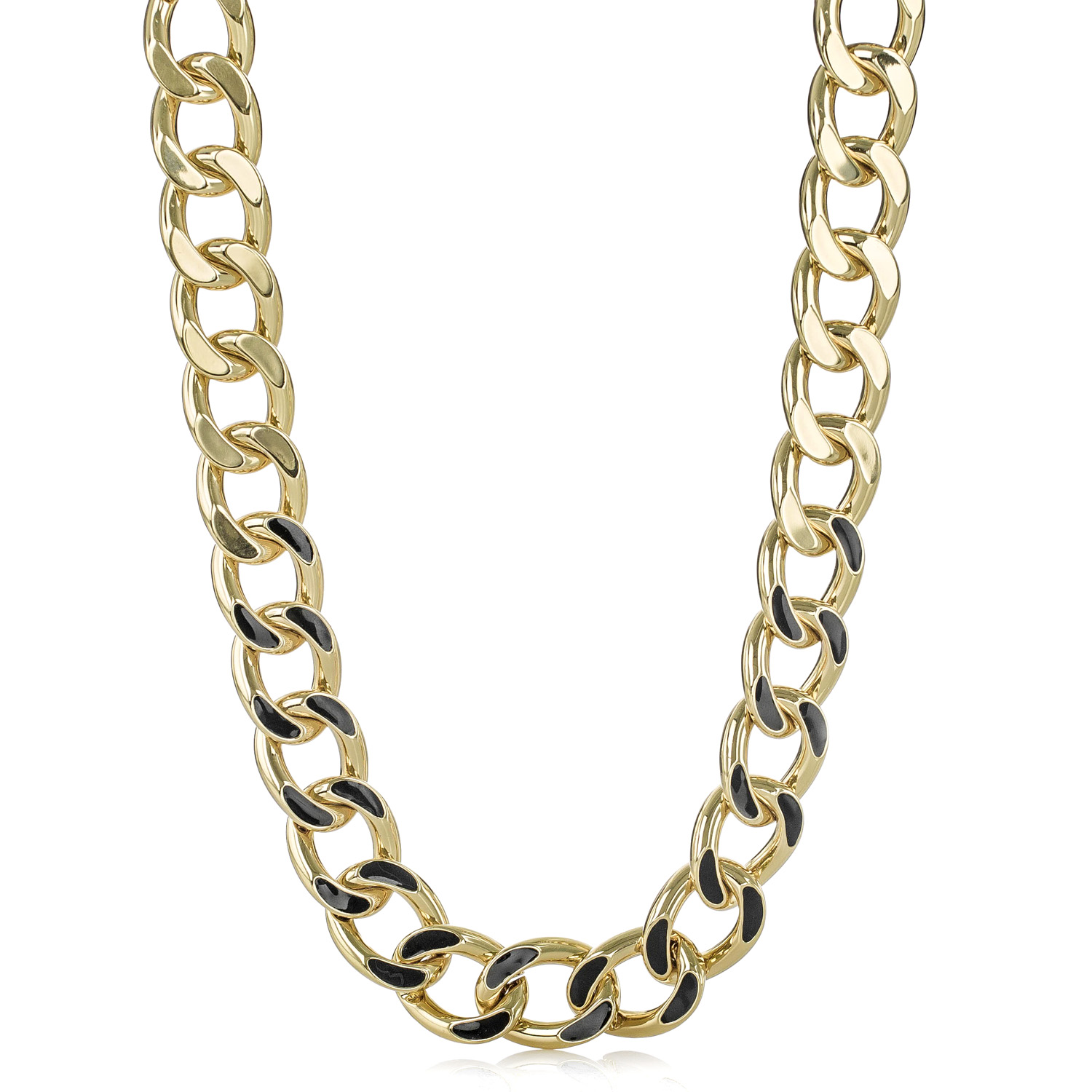 curb necklace main hollow gold chain wide for women men