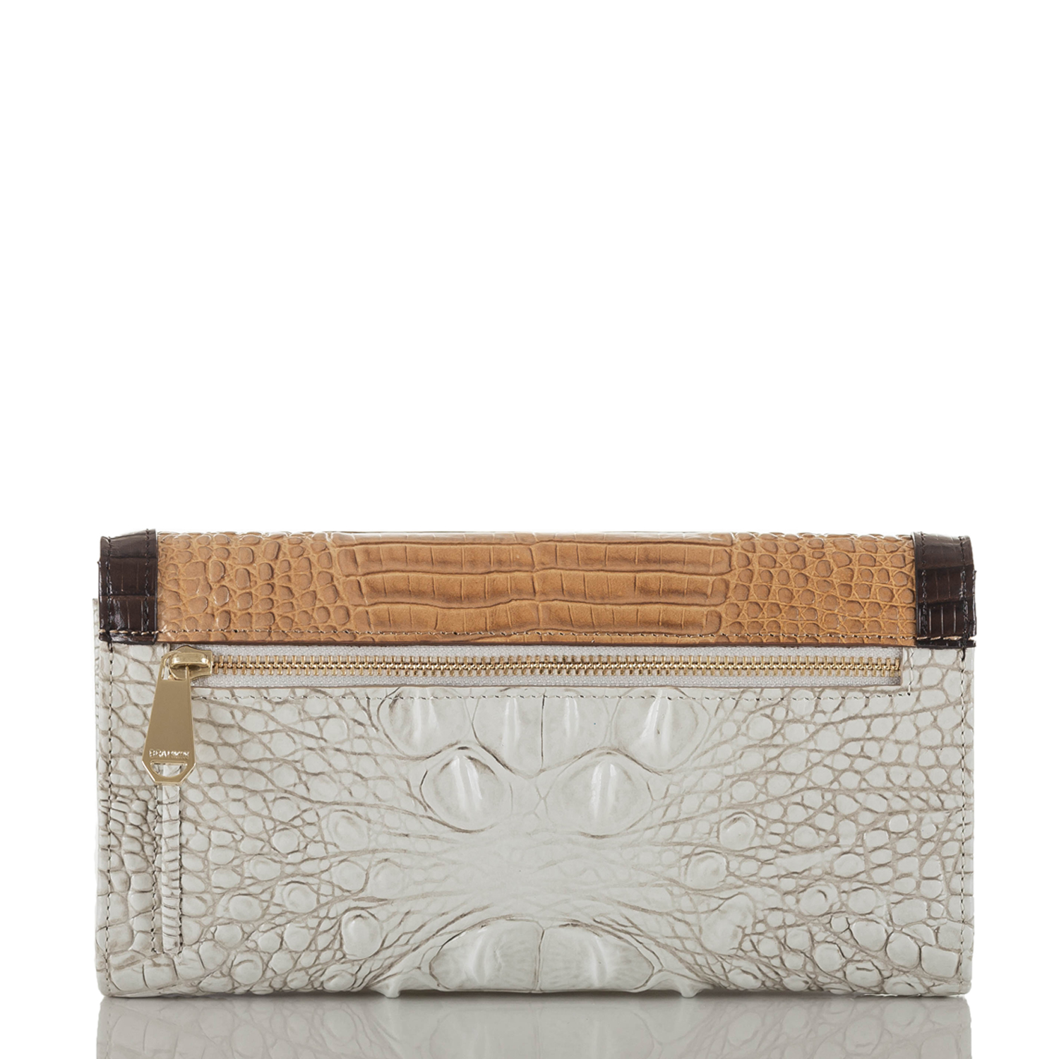 Soft Checkbook Wallet Coconut Kedima Front