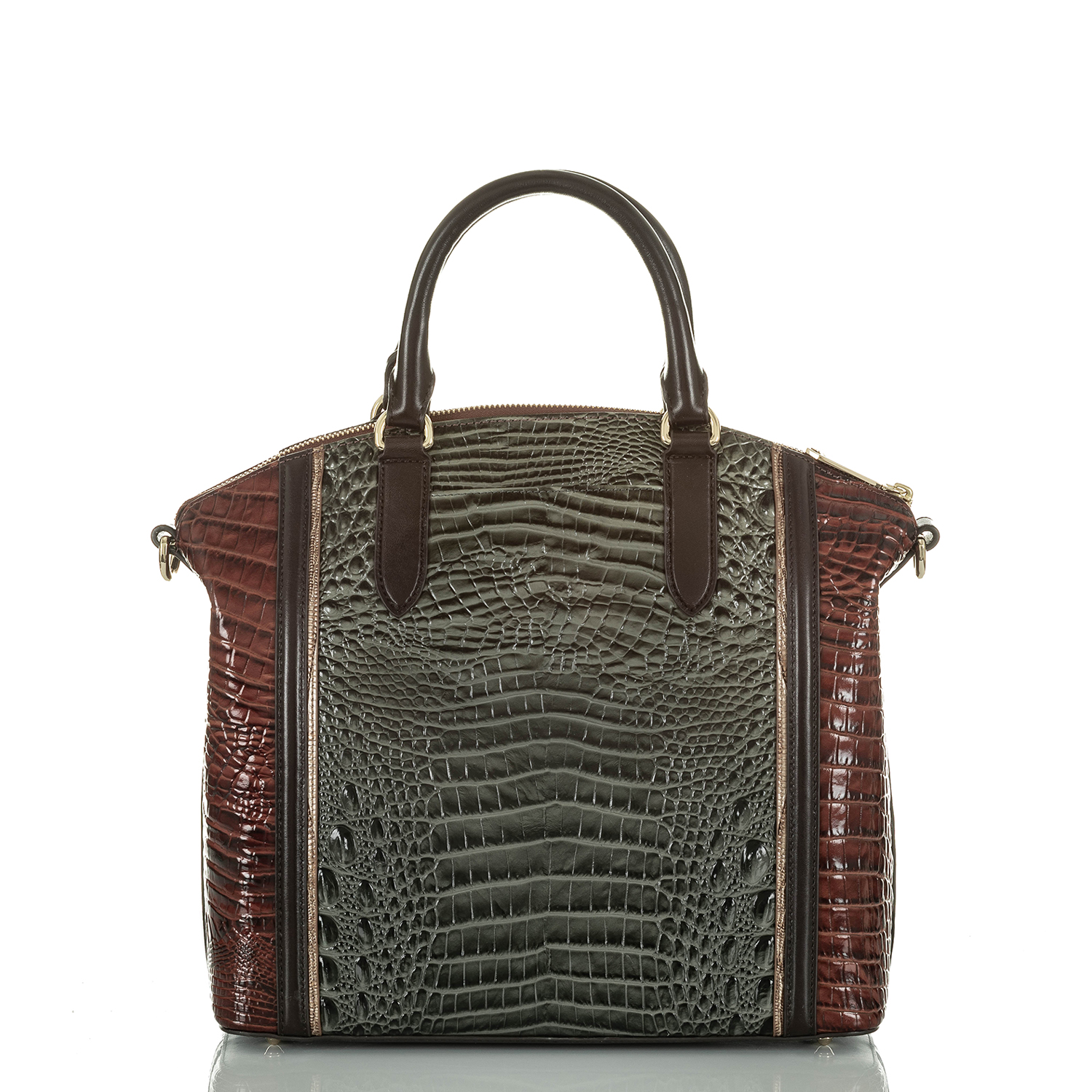 Large Duxbury Satchel Serpentine Heartwood
