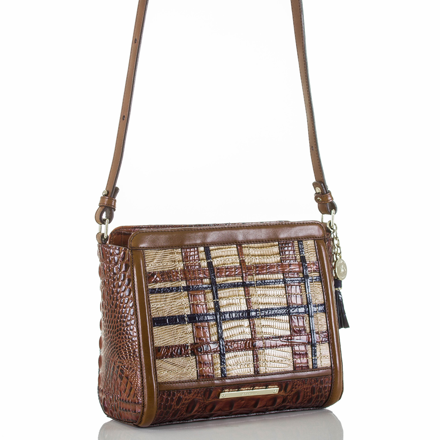 Carrie Crossbody Pecan Canterbury Front