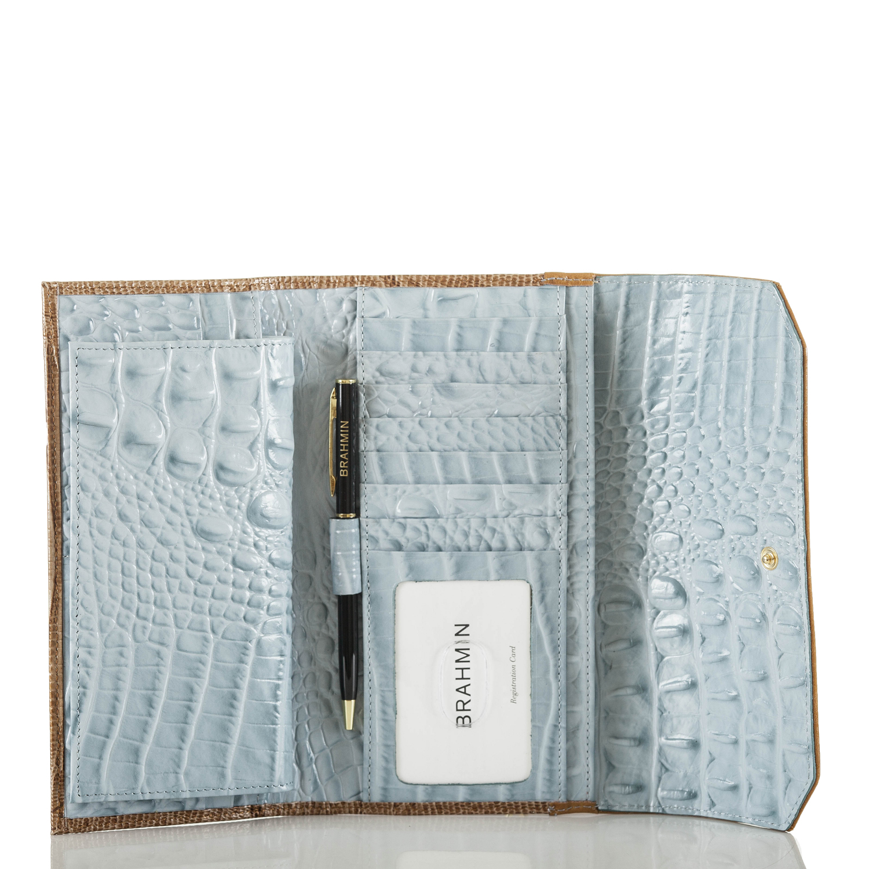 Soft Checkbook Wallet Sky Viognier