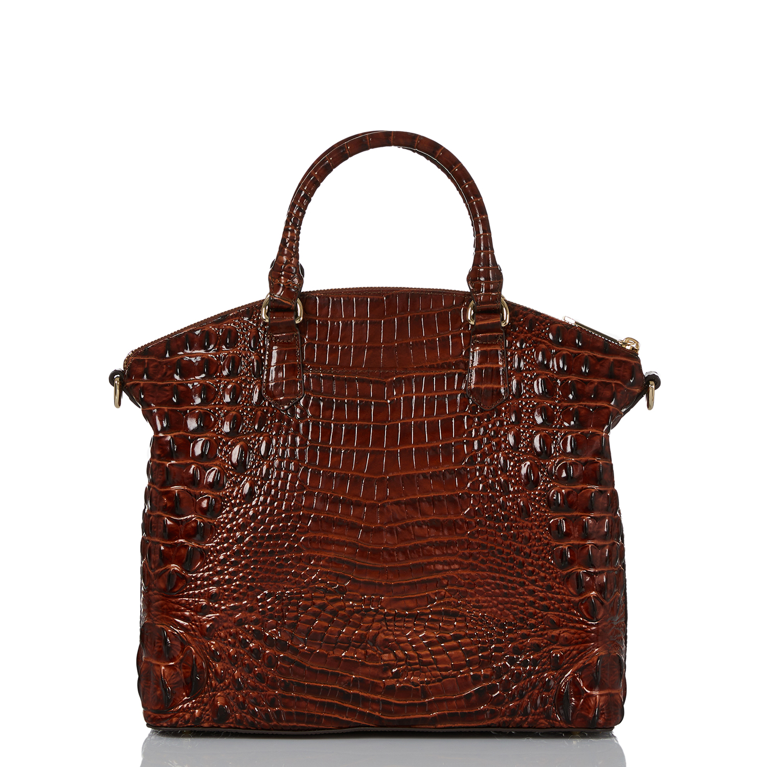 Large Duxbury Satchel Pecan Melbourne Back Thumbnail