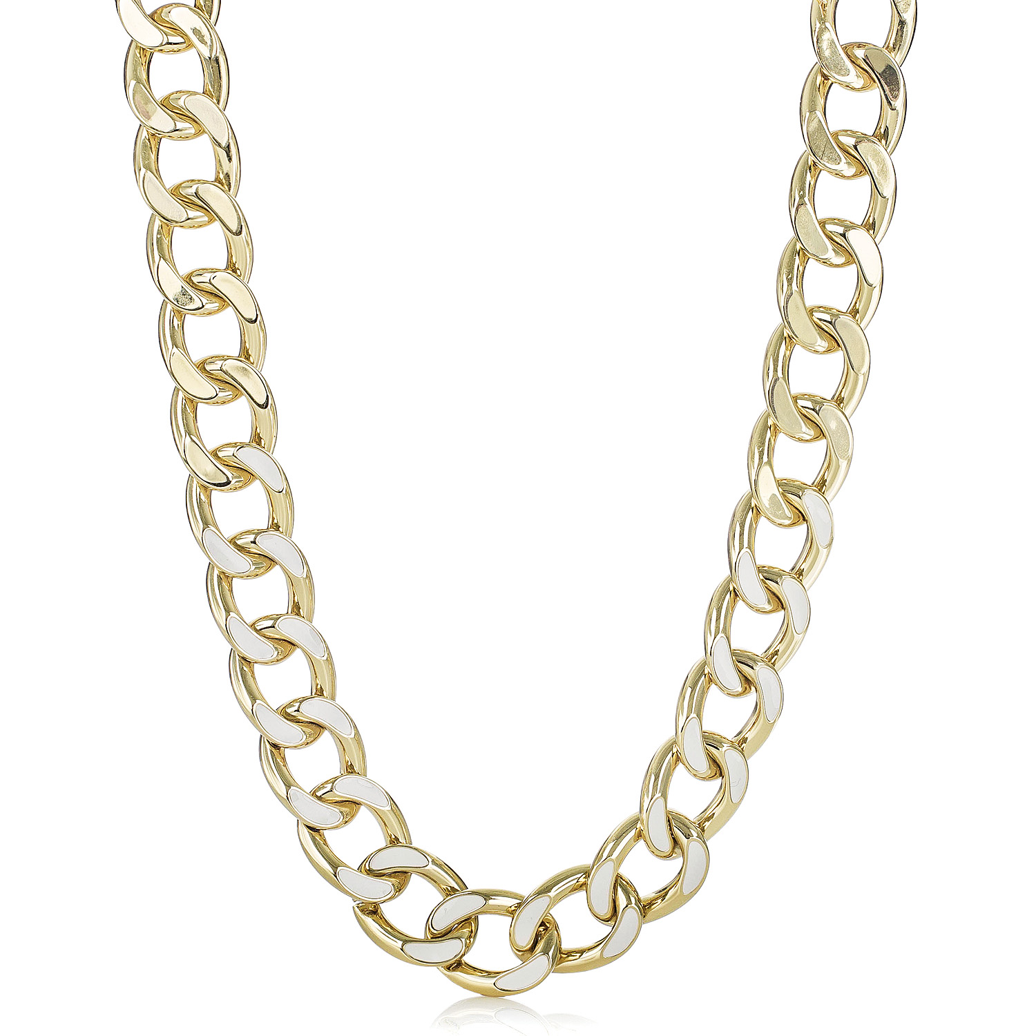 number gold necklace webstore samuel chain curb d product h twist