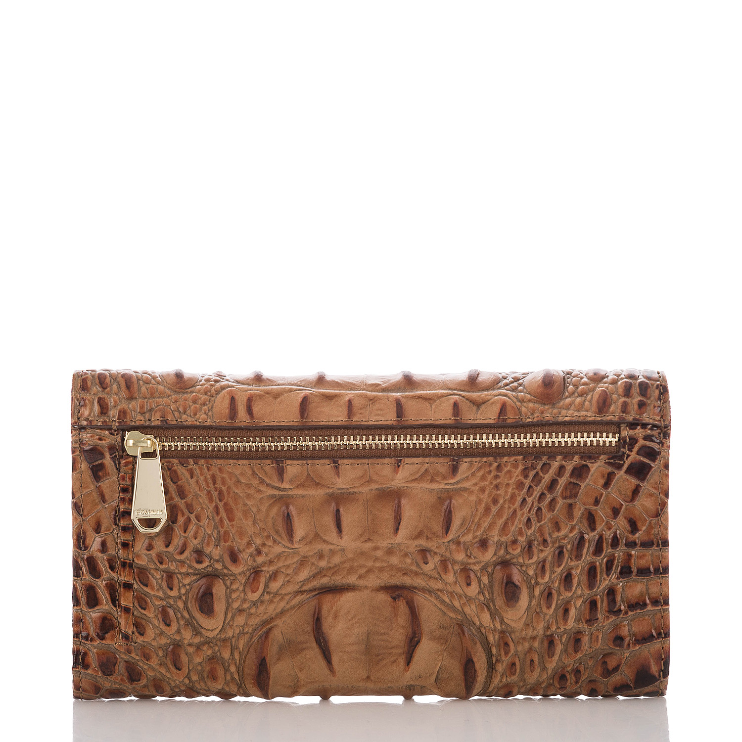 Soft Checkbook Wallet Toasted Almond Melbourne Front