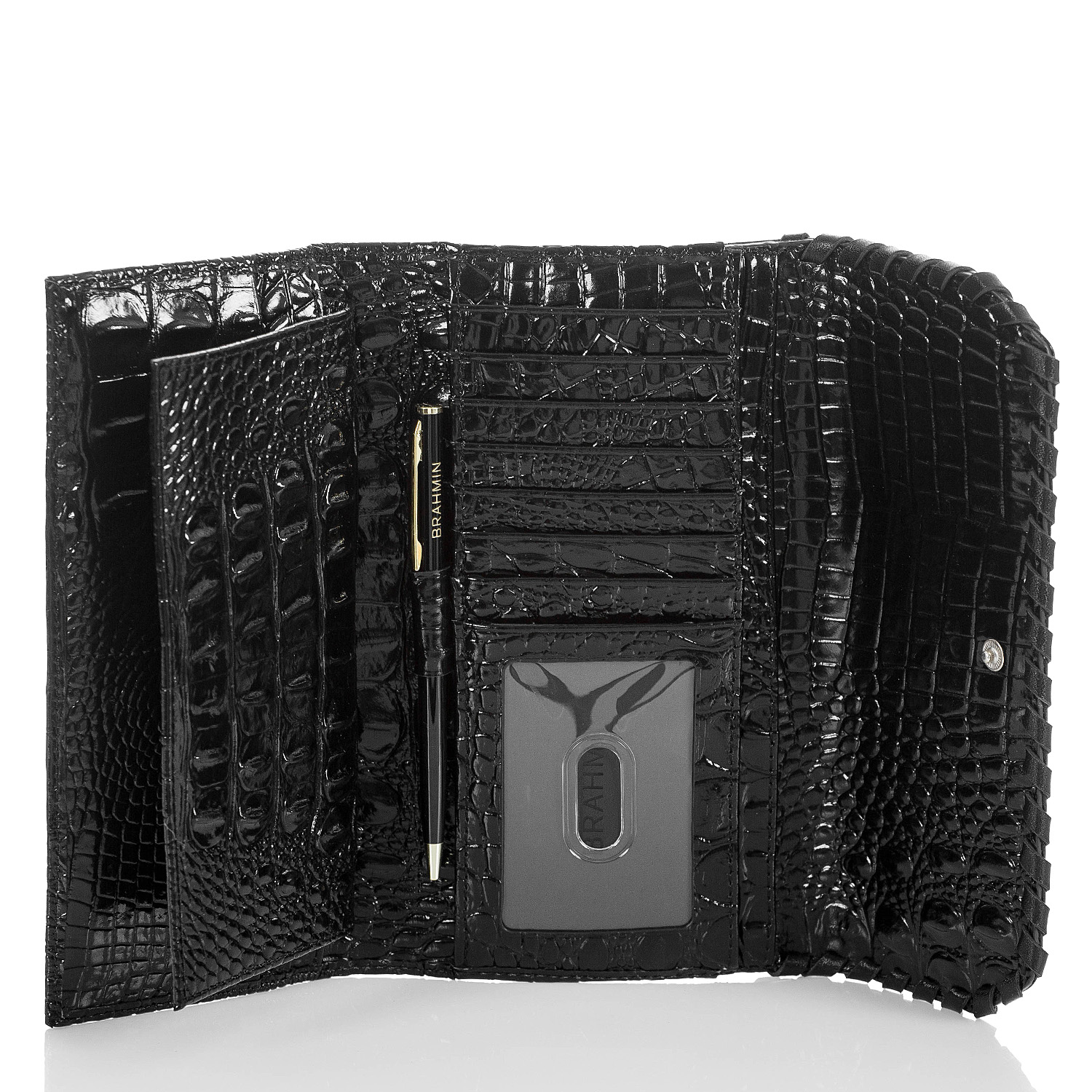 Soft Checkbook Wallet Black Wilde Front