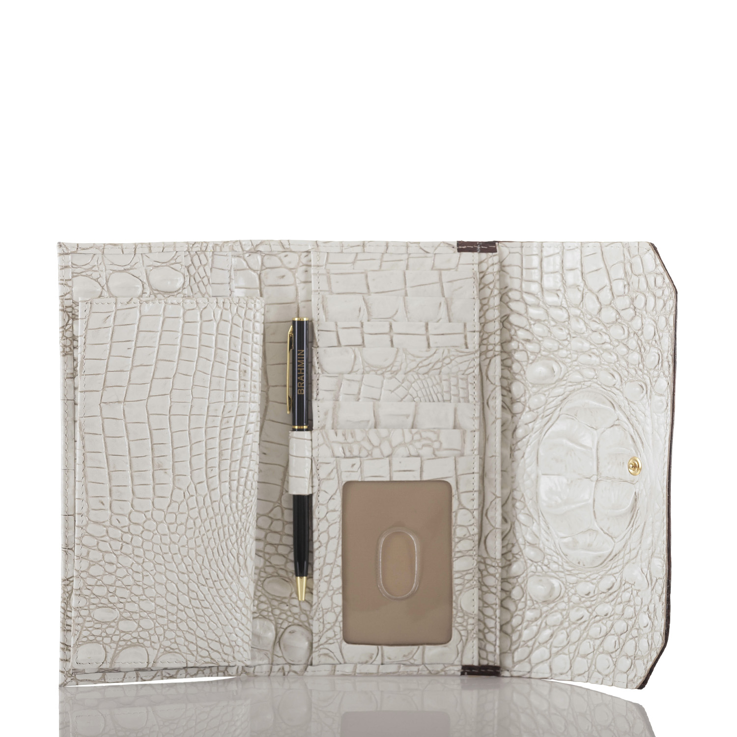 Soft Checkbook Wallet Coconut Soraya Front