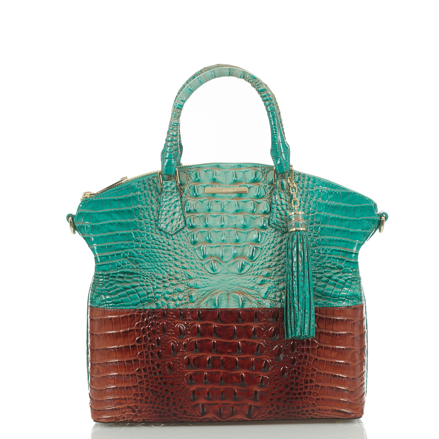 Large Duxbury Satchel Turquoise Paraty Video Thumbnail
