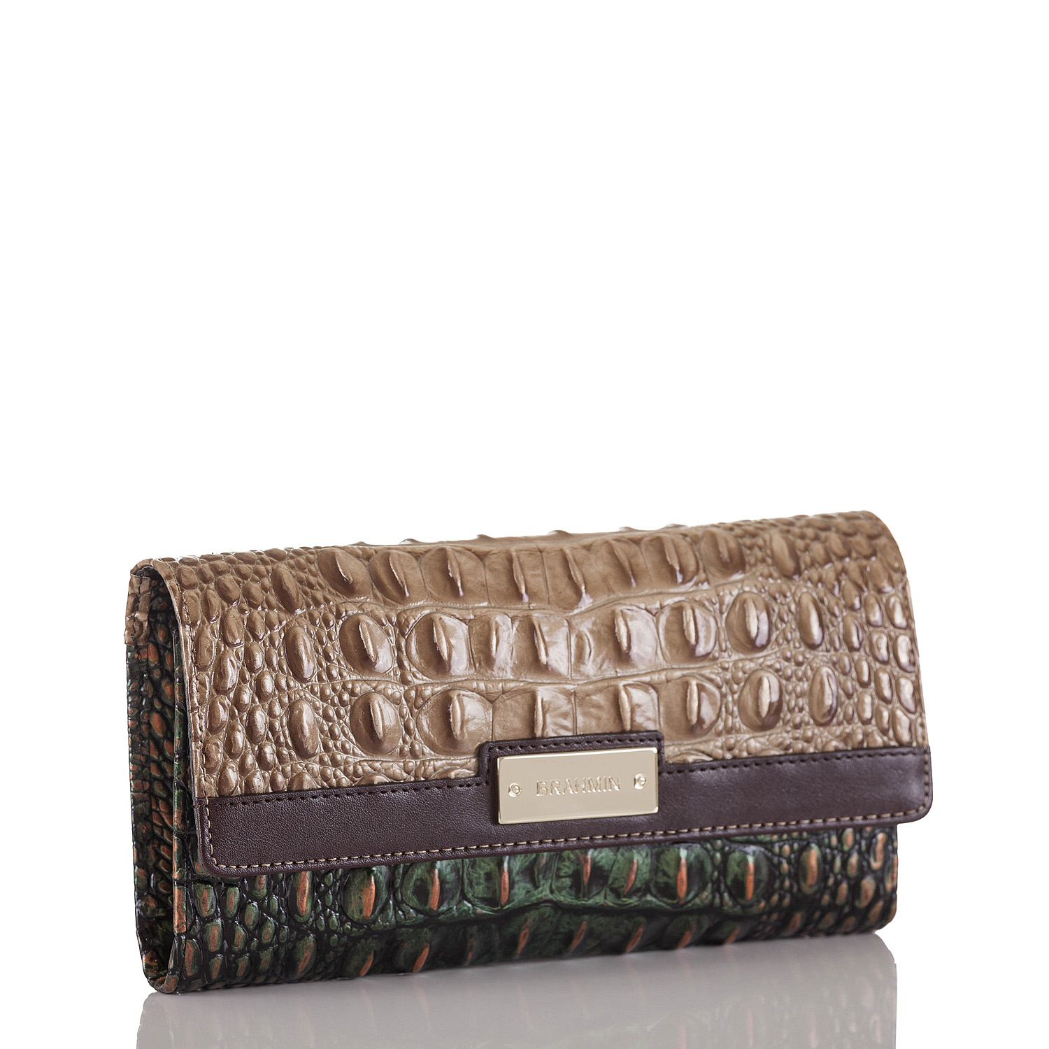 Soft Checkbook Wallet Riviera Kingfisher Front