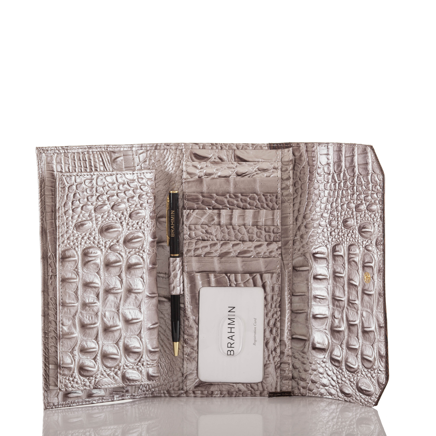 Soft Checkbook Wallet Chardonnay Clermont